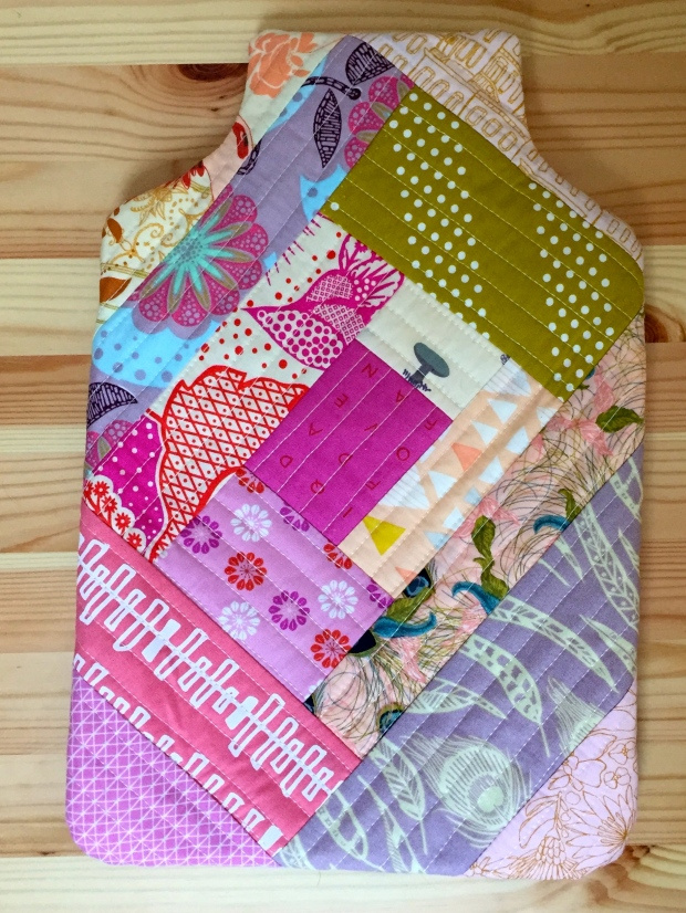Patchwork Hot Water Bottle Cover 2